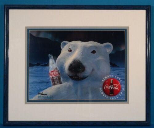 Coca Cola Polar Bear Coke Art Numbered Framed w/Certificate