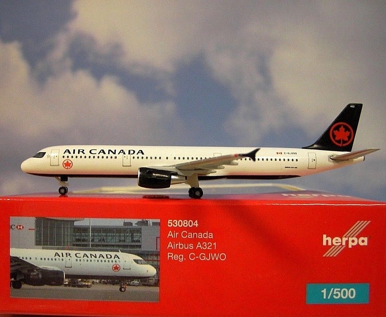 Herpa 1:500 523981 Continental Airlines Boeing 737-100 Nouveau neuf dans sa boîte