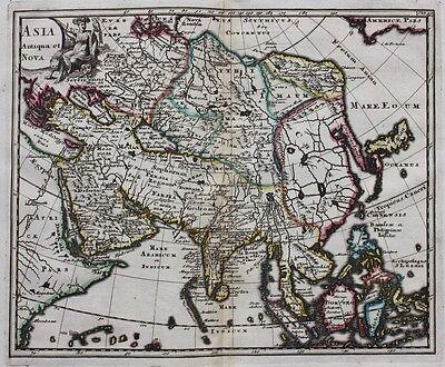 Original antique map ASIA, CHINA, JAPAN 'ASIA ANTIQUA ET NOVA' P. Cluver, c.1697