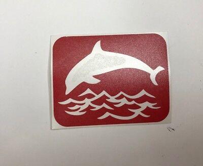 15 Dolphin over water glitter tattoo stencils