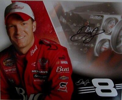 DALE EARNHARDT JR. SIGNED BUD RACING NASCAR MECS SERIES HANDOUT
