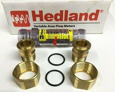 Hedland H625-110 Ez-view Oil Flow Meter 1-10 Gpm 4-335 Lpm 34npt 325 Psi 250f