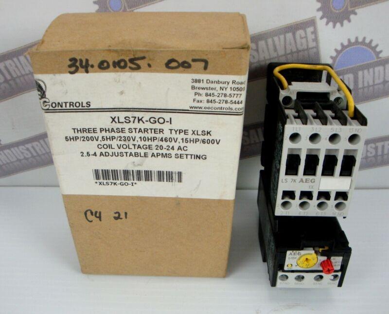 EE Controls 3 PH STARTER XLS7K 5HP, 10HP, 15HP, XLSK, 2.5-4 Adjust XLS7K-GO-I