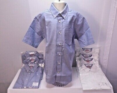 Boys Blue Oxford Shirt - NWT IZOD® Short-Sleeve Oxford Shirt - Boys Medium Size 10/12 Blue or White