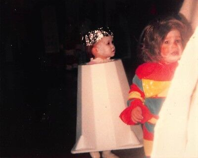 THE YEAR AMY WENT AS A LAMPSHADE ~ HALLOWEEN COSTUME CRYING CLOWN KID VTG Photo - Lamp Shade Halloween Costume