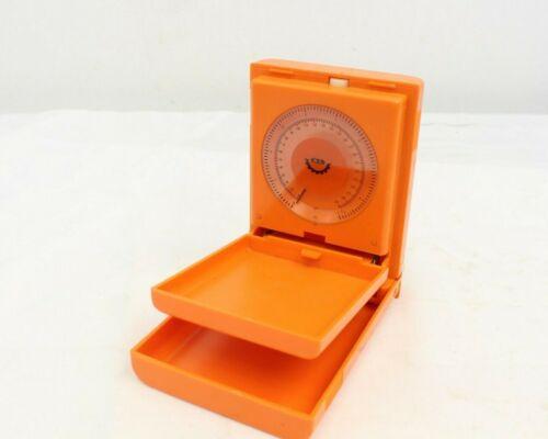 Vintage Portable Pocket Weigh Scale Orange Plastic -M69