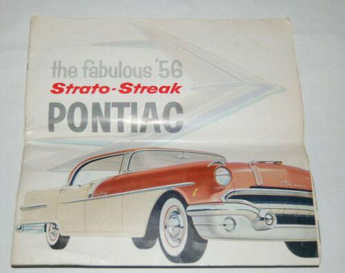 ORIGINAL 1956 Strato-Streak Pontiac full line of models Sales Brochure Catalog