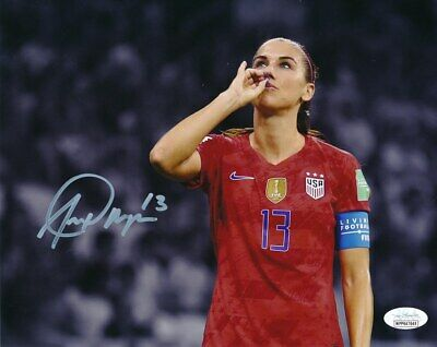 Alex Morgan US Women's Soccer Tea Sip Signed/Autographed 8x10 Photo JSA 146915 Us Womens Soccer 8x10 Photo