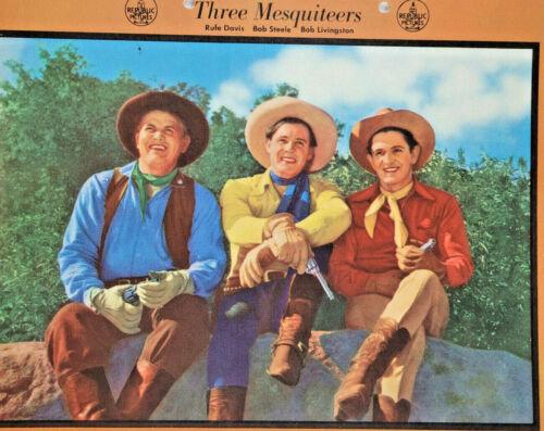 Three Mesquiteers 1941 Cowboy Vtg Dixie Cup Ice Cream Photo Premium Original