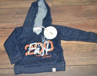 Burts Bees Baby 100% Organic Cotton Hoodie Boys Pullover Sweatshirt Blue