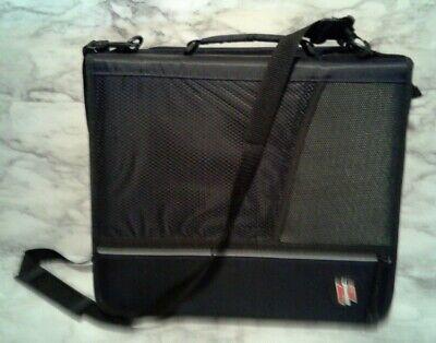 Black Case-it Z-binder Two-in-one 1.5 D-ring Zipper Double Sided Binder Case