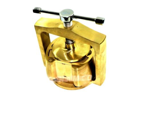 German  DENTAL LABORATORY LAB SPRING PRESS COMPRESS W/ONE BRASS DENTURE FLASK -0