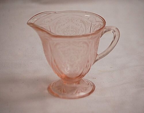 "Royal Lace Pink by Hazel Atlas 4-1/4"" Creamer Depression Glass 1934 - 1941"