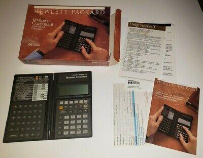 Hewlett Packard HP-18C Calculator Business Consultant financial