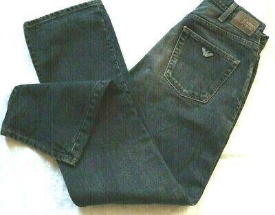 ARMANI JEANS Dark Wash Straight Leg Jean Made in Italy Sz