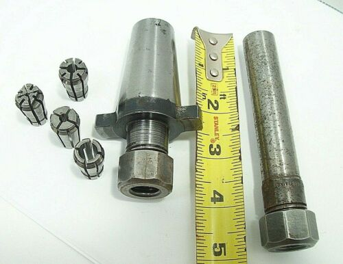 """KWIK SWITCH 200 3/8"""" SERIES ACURA FLEX COLLET CHUCK W/4 collets & extension lotC"""