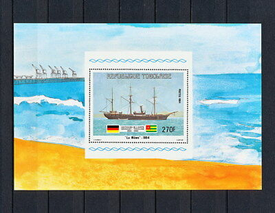 (SBAA 262) TOGO 1984 MNH Sailing Ships Sailboat Sheet  Togolese Togolaise Sheet
