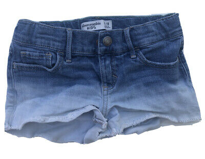 Abercrombie kids girls Jeans shorts sz 7/8 EEUC High Rise