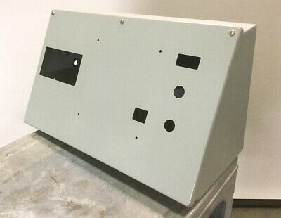 Hoffman C-12c20 Sloped Consolet Enclosure Panel Box Nema Type12 12x20 Holes