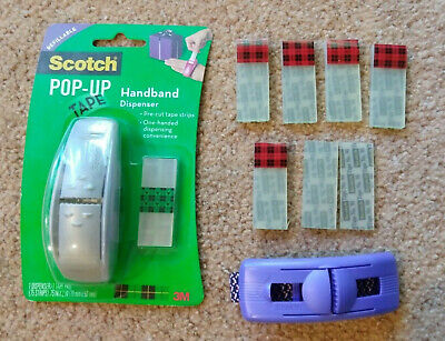 Scotch Pop Up Tape Lot 2 Dispensers 6 New Crystal Clear Refills More Free Ship
