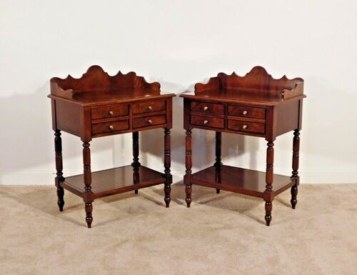 HICKORY CHAIR Pair Flame Mahogany Southern Empire Nitestands Bedside Chests