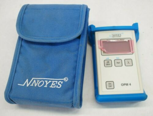 NOS Noyes OPM4 OPM 4 Fiber Optic Power Meter w/ Case