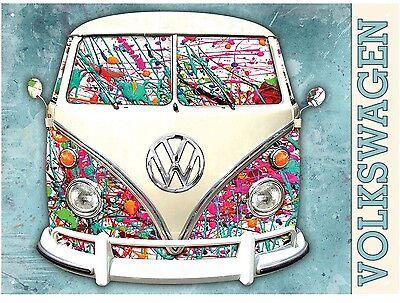 VW Split Screen Camper - Graffiti design - official licensed product Metal Sign