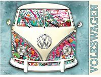 Vw Split Screen Camper - Graffiti Design - Official Licensed Product Metal Sign - camper - ebay.co.uk