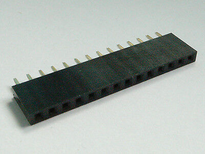 3pcs Strip  PCB Panel Female IC Breakable 40pin Single Row Round Header Socket
