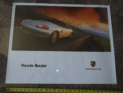 "Porshe Boxter (1997 Vintage Poster) Nice condition 28"" x 22"", Showroom Ad Poster"