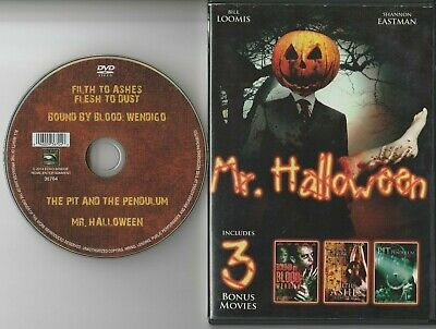 Mr Halloween Movie (Mr. Halloween & 3 Bonus Movies (DVD) Rare OOP Out Of Print Horror)