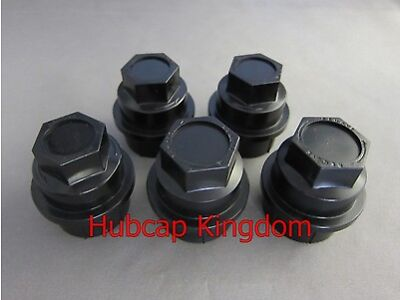 5 NEW BLACK Lug Nut COVERS CAP CHEVY GMC SILVERADO 1500 2500 FULL SIZE TRUCK VAN