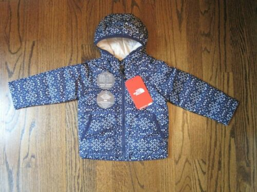 The North Face Toddler Girl Blue/Geo Print Rev. Perrito Jacket US 3T, 5T NWT