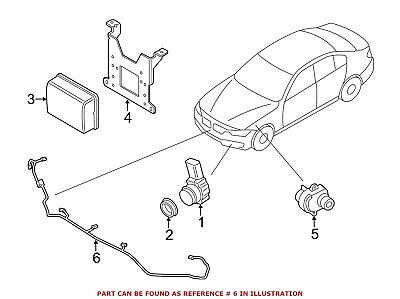 For BMW Genuine Parking Aid System Wiring Harness Front 61129326025