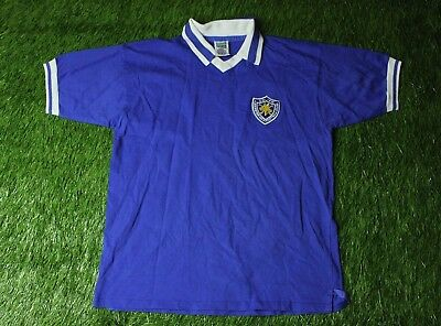 LEICESTER CITY 1979/1983 FOOTBALL SHIRT JERSEY HOME SCORE DRAW REPLICA SIZE XL image