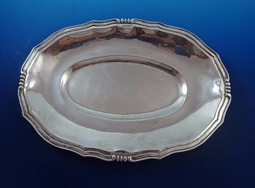 "Oval Mexican Sterling Silver Dish Bowl Platter 12 1/2"" by 8"""