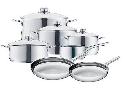 WMF Diadem Plus 11-Piece Cookware Set 18/10 Stainless Steel