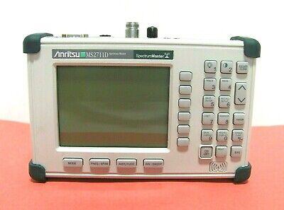 Anritsu Ms2711d Handheld Spectrum Master Analyzer 100 Khz To 3.0 Ghz