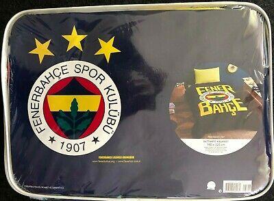 Fenerbahce Decke Kuscheldecke 160x220 cm Lizenzierte Orginal Ware Battaniye Tac