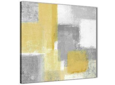 Mustard Yellow Grey Abstract Bedroom Canvas Decorations 1s367l - 79cm