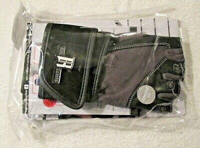 (black, x-small) - RIMSports Weight Lifting Gloves with Wrist Wrap -
