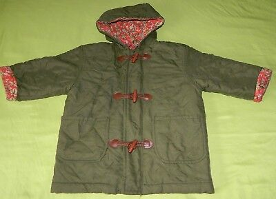 Girls Youth Vintage Knitwear Pic & Nic Solid Olive Winter Long Sleeve Jacket 22