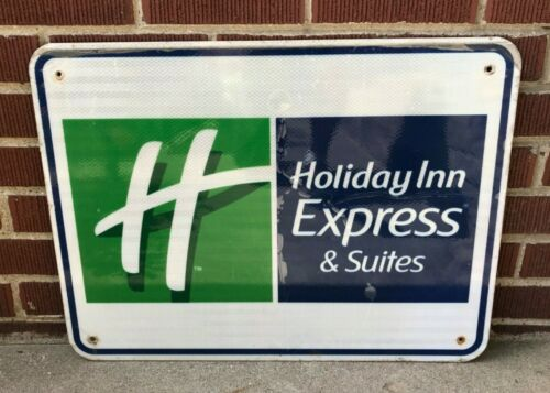 Holiday Inn Express Sign Hotel Motel Highway Freeway Turnpike Metal Road Suites