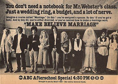 1979 TV AD~ABC AFTERSCHOOL Extra~MAKE BELIEVE MARRIAGE~ALEXA KENIN~LONNY PRICE