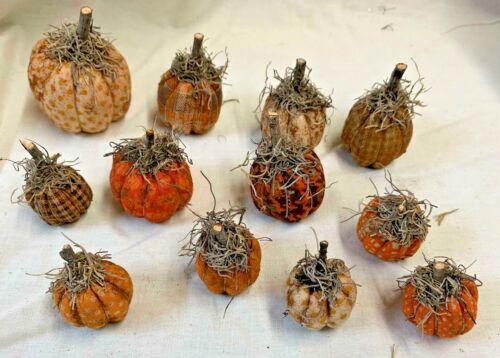 Tiny Pumpkins/Fall/Halloween/Bowl Fillers/Set of 12/Grunged/Farmhouse