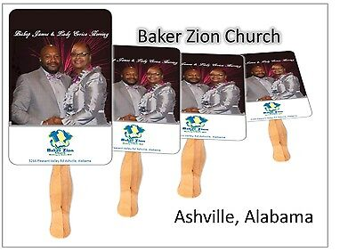 100 Personalized Church Fans, fans personalized church  hand fans (Church Fans)