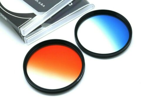 67mm Graduated Blue + Orange Filter For Canon Nikon Tamron Sony Sigma & Others