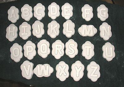 - Neat Singles Alphabet Frit Letters for slump mold kiln glass fusing  Very cool