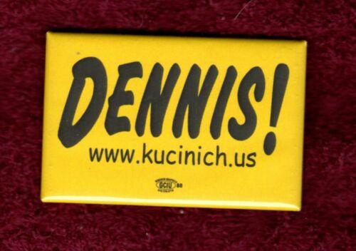 DENNIS KUCINICH CUYAHOGA CLEVELAND OHIO CONGRESS HOPEFUL 2008 PINBACK BUTTON