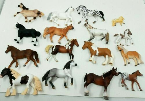 Huge Lot of 16 Schleich 4 inch Collectible Horse Model Figurines 2000s Zebra